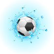 Splashing Soccer Ball