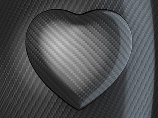 Love: Carbon fibre heart shape