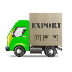 export delivery truck