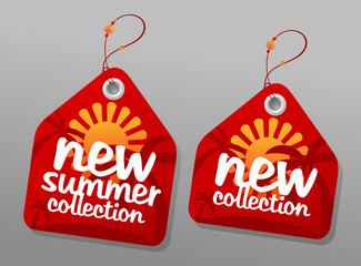 New summer collection labels.