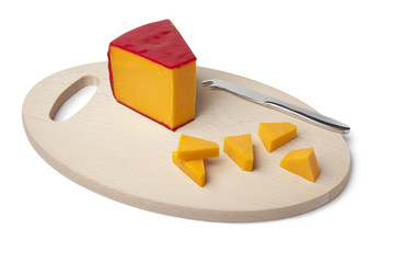 Piece of Cheddar cheese