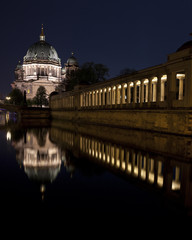 View of the Berliner Dom and part of the Old National Gallery