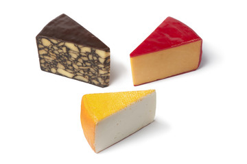 Three different kind of cheese