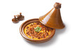 Moroccan tajine with egg and minced meat