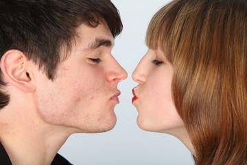 Kurz vor dem Kuss