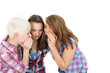 Drei Teenager beim tratschen