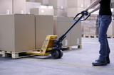 lifting boxes with forklift