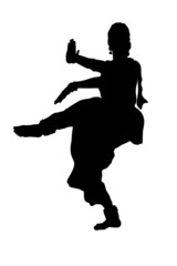 dancer from india silhouette