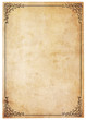 Blank Antique Paper With Vintage Border