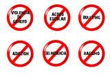 Problemas sociales,señales poster