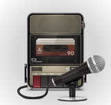 Vector cassette recorder with microphone XXL icon