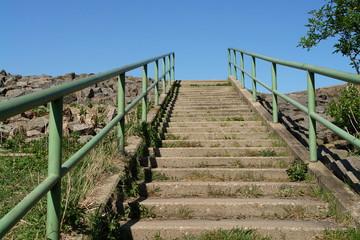 Treppe am Deich