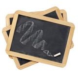 chalk smudge on slate blackboard poster
