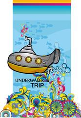 composicion de un submarino en vector