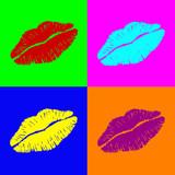 Fototapety Warhol lipps