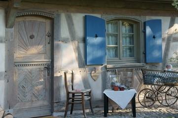Veranda, Tür und Fenster, Elsass, Frankreich