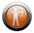 "Orange Metallic Orb Button ""Archery"""