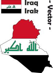 Irak Vektor mit Flagge