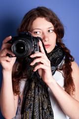 beautiful woman-photographer