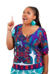 Beautiful  African American woman  showing something © Samuel B.