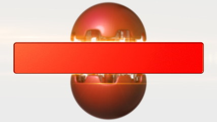 A red ball is transformed into futuristic device.