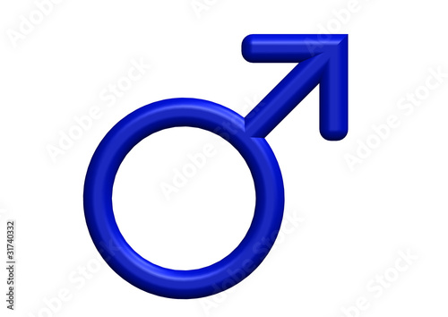 3d Render Of Male Symbols