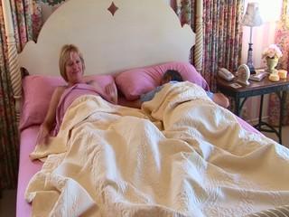 Mature wife waking husband up