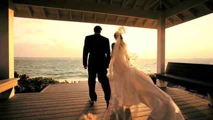 Tropical Island Wedding Couple