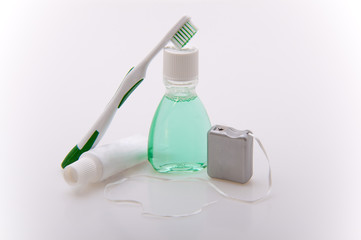 Dental care travel kit.