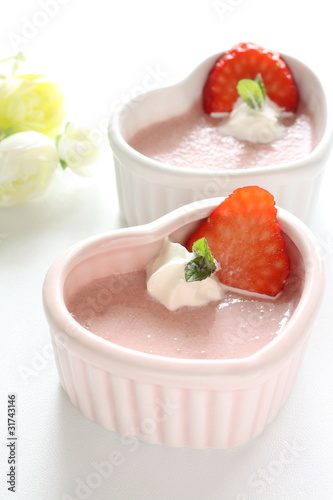 Lovely strawberry mousse
