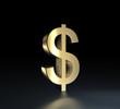 dollar symbol gold