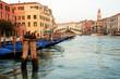 Amarres en el Gran Canal de Venecia