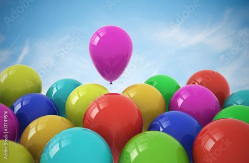 Party balloons on sky background © Jezper