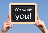 We want you ! Business and Work Concept poster