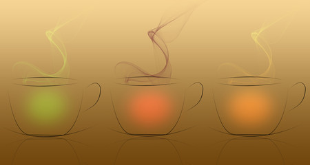 Three coffee