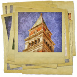 Venice - great italian landmarks - retro styled photo collage poster