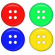 set of glossy red green blue and yellow buttons