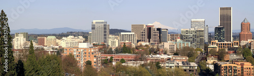 Portland Oregon Downtown Skyline Panorama