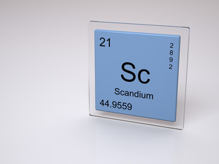Scandium - symbol Sc - chemical element of the periodic table