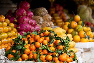 Tangerines and Other Fruit in Cambodian Market