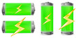 green battery with power sign