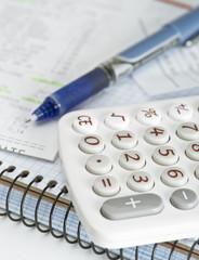 Calculadora y cuenta de la compra