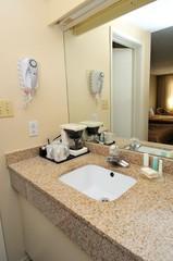Makeup area at wash basin