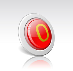 """Button with the number """"0"""" is shown in the picture.."""