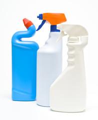 Envases de limpieza,  spray,  en plástico