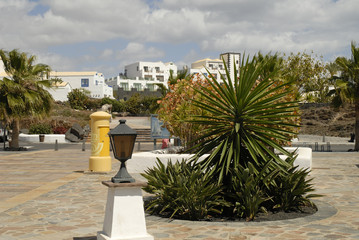 Playa Blanca on island of Lanzarote,Canary Islands,Spain