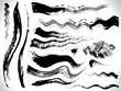 vector ink brush strokes set - 31771333
