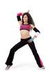 Fitness teacher striking a pose