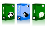 Sport box - Golf, Ice Hockey, Soccer Ball