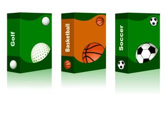 Sport box - Golf, Basketball, Soccer Ball